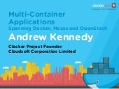 Multi-Container Applications Spanning Docker, Mesos and OpenStack