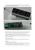 The Introduction of Digital Electronic Clock Temperature Voltage Module for Arduino STM8 AVR 51 STM32 ARM