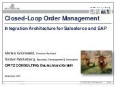 Closed Loop Order Management - Integration Architecture for Salesforce and SAP
