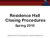 Closing Procedures Training