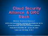 Cloud Security Alliance's GRC Stack...