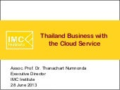 Thailand Business with  the Cloud S...