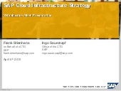 SAP Cloud Infrastructure Strategy @...