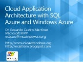 Cloud application architecture with...