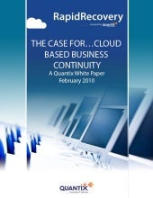 Cloud Business Continuity White Paper