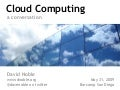Cloud Computing - a conversation