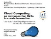 Eugenio Mauri: Cloud Computing
