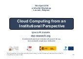 Cloud computing from an institution...