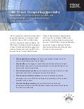 IBM Cloud Computing Specialty Brochure
