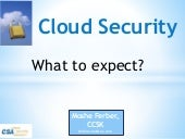 Cloud security   what to expect (introduction to cloud security)