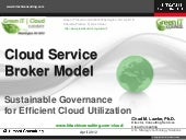 """Cloud Service Brokerage Model for ..."