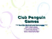 Club Penguin Games 1.0