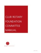 Club foundation committee manual