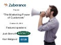 Zuberance Webinar Slides: The Marketing Power of Customers featuring Forrester Research Inc & Club One Fitness