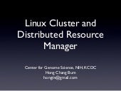 Linux Cluster and Distributed Resou...