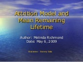 Attrition Model and Remaining Lifetime