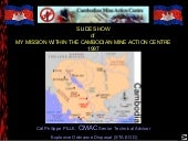 Cdr. PILLE CMAC MISSION CAMBODIA 1997