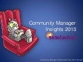 Community Manager Insights for 2013