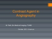 Contrast Agents in Angiography