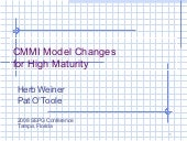 Cmmi hm 2008 sepg model changes for high maturity  1v01[1]