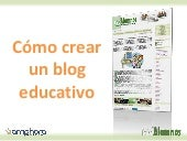 Cómo crear gratis un blog educativo
