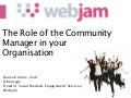 The role of the community manager in your organisation
