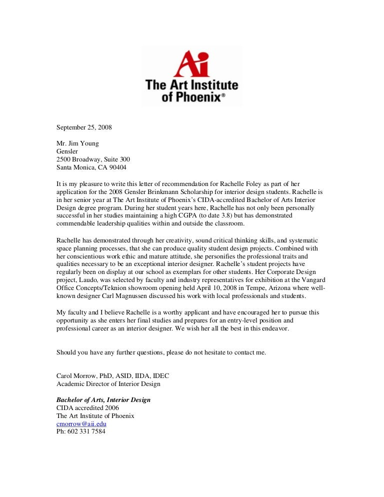 sample recommendation letters for graduate school