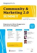 Programm Community & Marketing 2.0 SUMMIT 2011