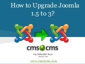 How to upgrade Joomla 1.5 to 3.