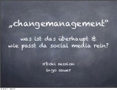 Change Management und Social Media