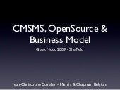 Cmsms, open source & business model