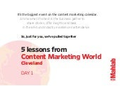 5 Lessons from Content Marketing World