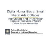 Digital Humanities at Small Liberal...