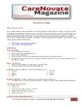 CareNovate Magazine Advertising Rates & Specs