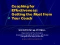 Coaching For Effectiveness
