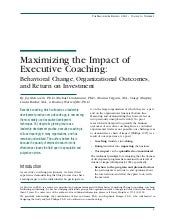 Maximizing the Impact of Executive ...