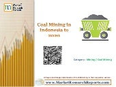 Coal Mining in Indonesia to 2020