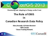 The Role of OBIS in Canadian Resear...