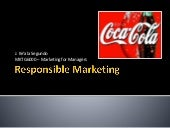 Coca cola's responsible marketing p...