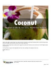 Coconut  The Plant of Life