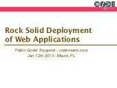 Rock Solid Deployment of Web Applic...