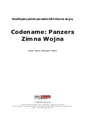 Codename Panzers Cold War Poradni...