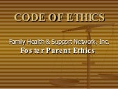 Code of ethics foster parent
