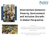 Intersections between Poverty, Envi...