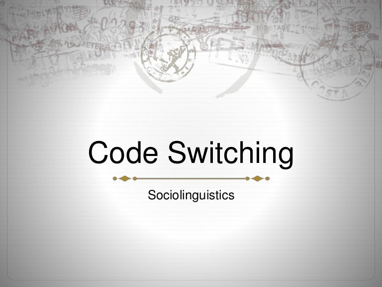 Dissertation on code-switching