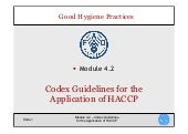 CODEX Guidelines for the Application of HACCP