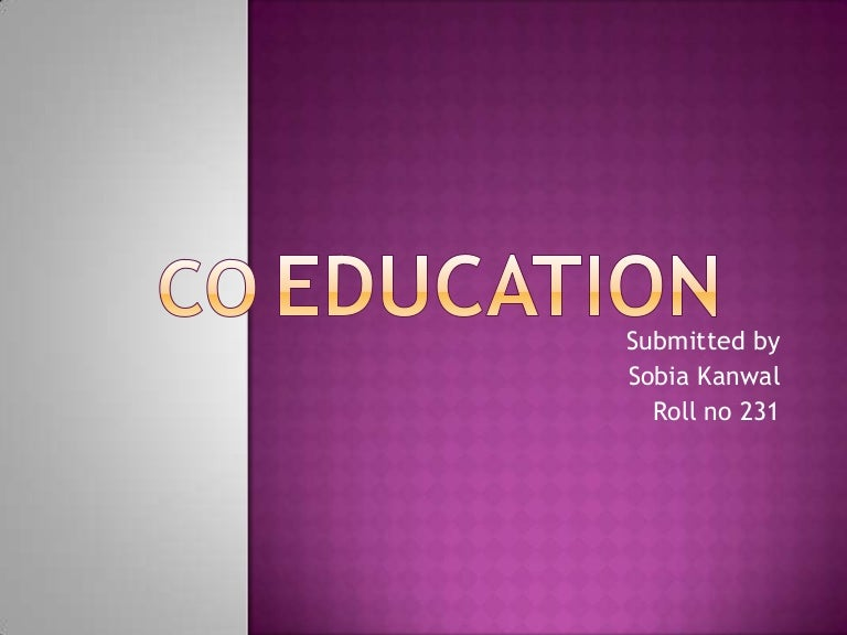 Essay on coeducation