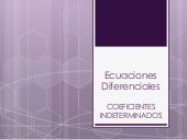 E.D. Coeficientes Indeterminados