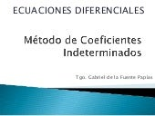 Coeficientes Indeterminados