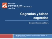 Cognates & False Cognates CEIA MASS...
